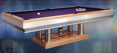 custom stainless steel pool tables and billiard tables