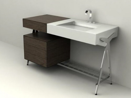 dedecker 01 modern sleek industrial bathroom storage vanities
