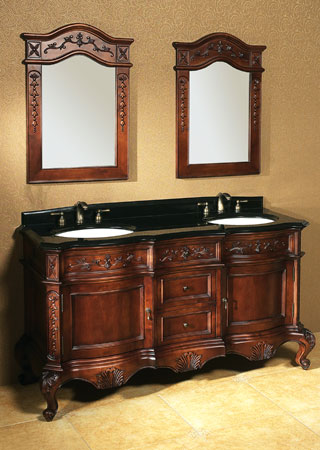 double sink traditional bathroom furnishings ronbow