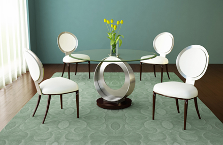 elite modern contemporary tao round glass dining tables