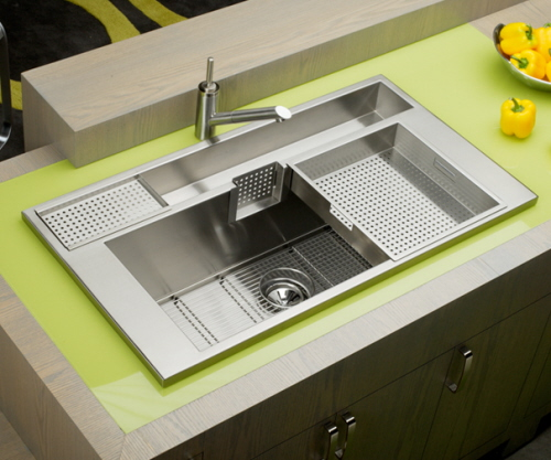 elkay large kitchen sinks and modern faucets