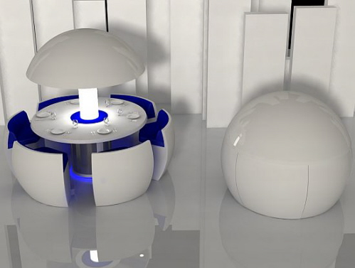 futuristic furniture modern round dining table and chairs