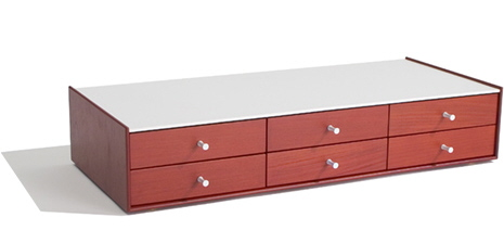 george nelson low 6 drawer storage chest