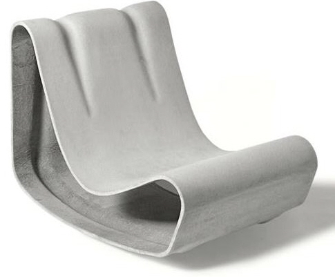 green form patio furniture lounge chair fiber cement