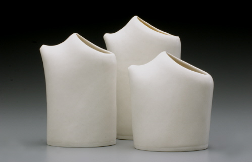 hand made fired modern porcelain pitcher