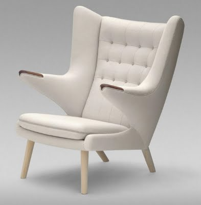 "Hans J Wegner's Classic ""Papa Bear"" Lounge Chair"