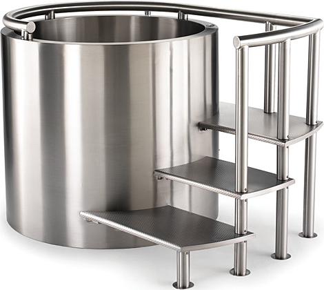 stainless steel ofuro soaking tubs