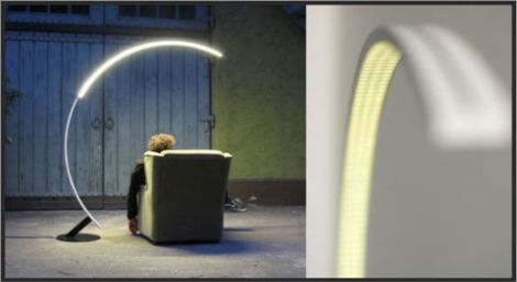 troja arc floor lamp
